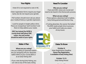 Equality NC Trans + GNC Voter Guide