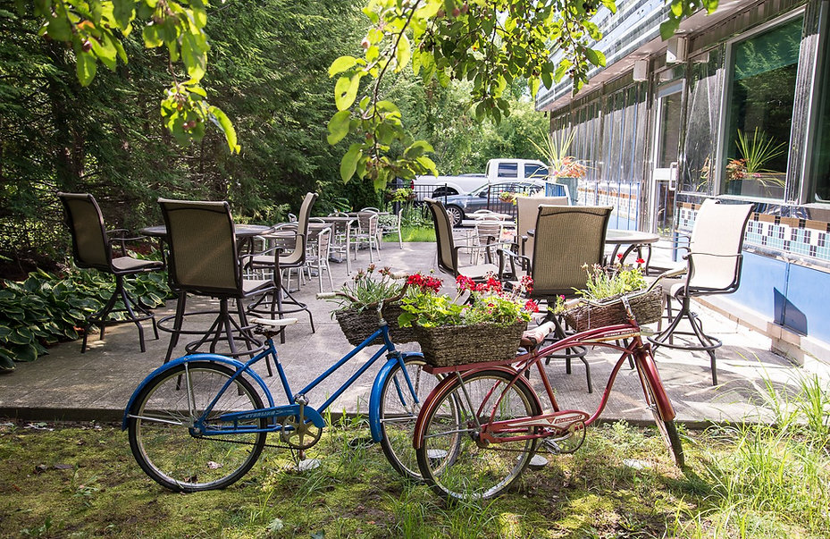 patio with bicycles | Troy, NY