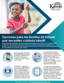 Opciones para cuidado Infantil