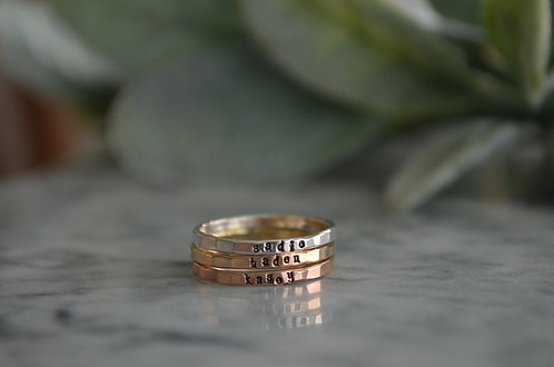 Teeny Stamped Band