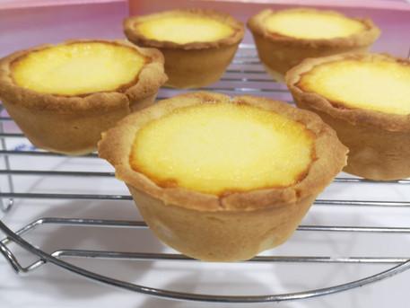 曲奇皮焦糖蛋撻 |Crème Brûlée Egg Tarts