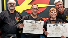 Tony and Mary Freeman - Official Black Belts!