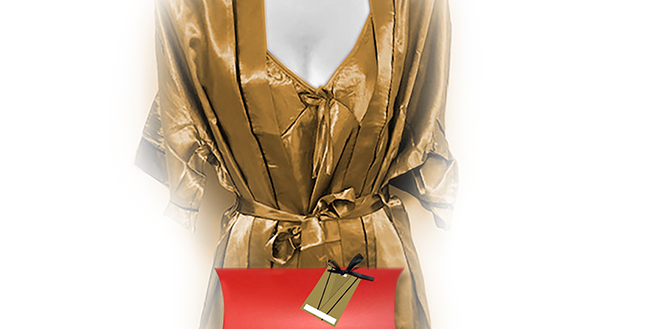 Gold Chemise and Robe Set