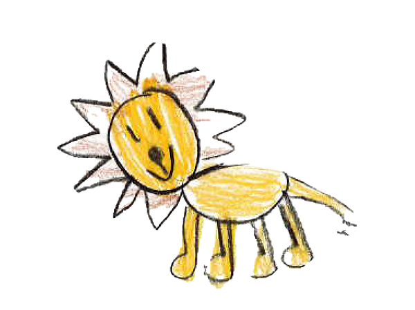 Animal Drawings - Lion - Isolated.png