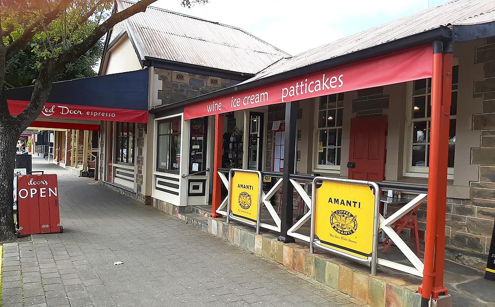 Front view of Red Door Espresso coffee shop in Tanunda