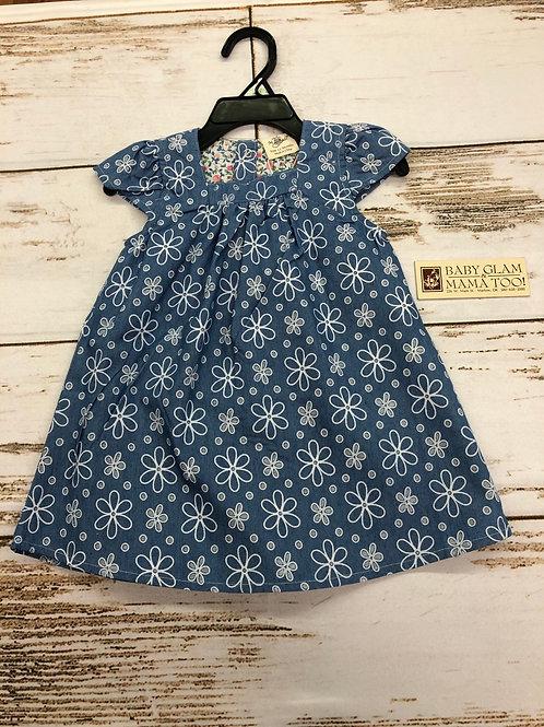 Chambray Flower Print Dress