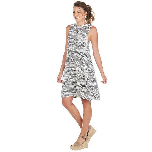 Alyssa Swing Dress- White Camo