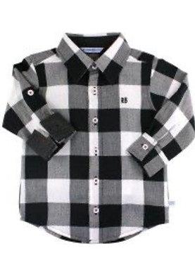 Black & White Plaid Button Down