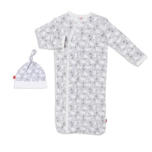 Denali Modal Magnetic Sack Gown & Hat Set