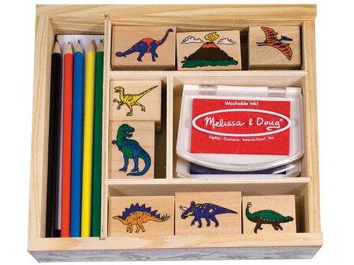 Dinosaur Wooden Stamp Set 1633