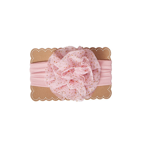 Pink Jumbo Puff Headband