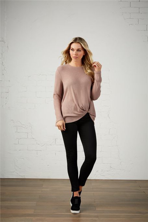 Bryce Knotted Tee Mauve