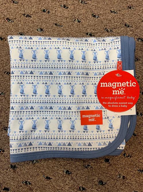 Blue Foxy fair isle Modal Swaddle Blanket