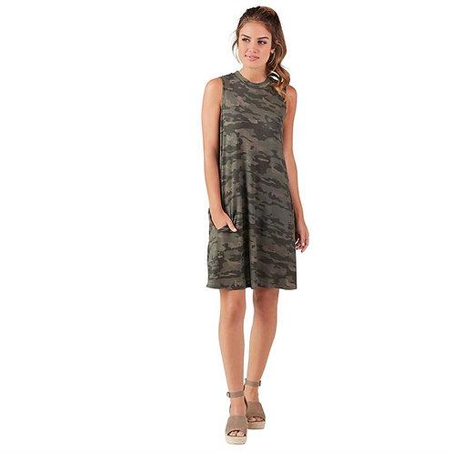 Alyssa Swing Dress- Camo
