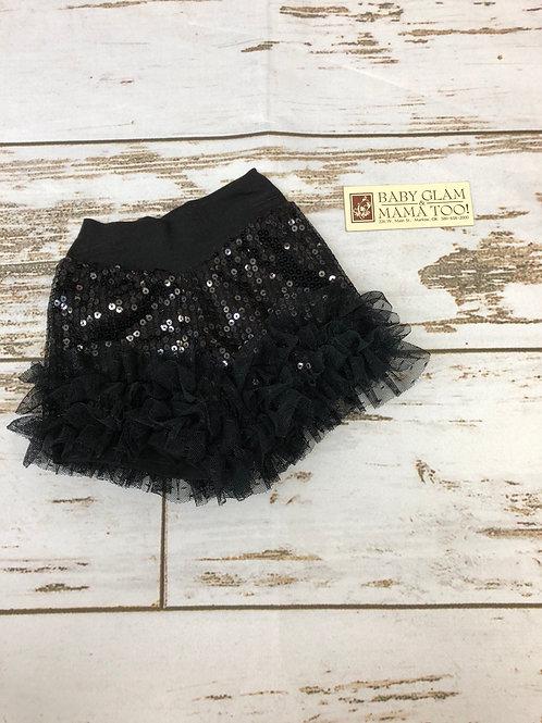 Black Sequin Short