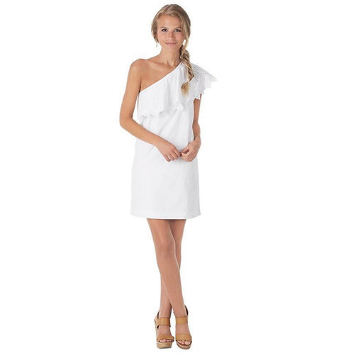 Laurel One Shoulder Dress- White