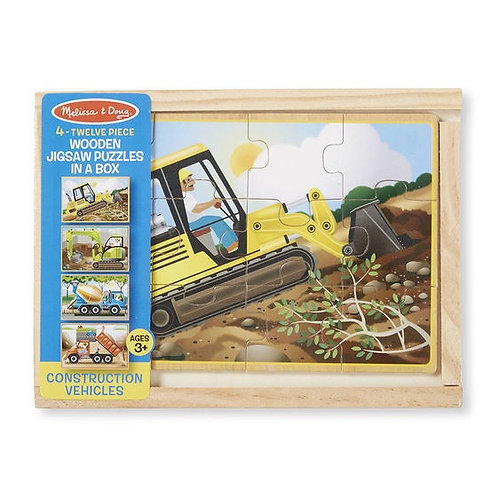 4 Jigsaw Puzzles In A Box- Construction Vehicles 3792