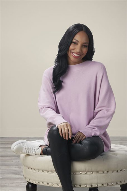 Astrid Ribbed Sweater Lilac One Size