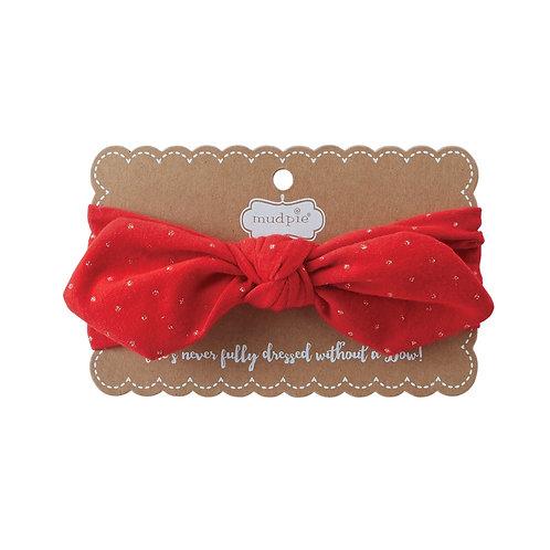Red Knot Bow Headband