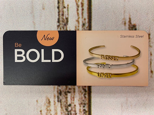 Bold Block Letter Embracelet