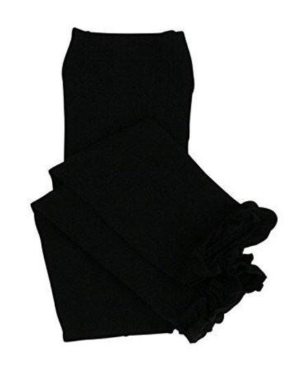 Black Footless Ruffle Tights