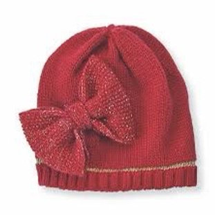 Bow Knitted Hat 6-18m