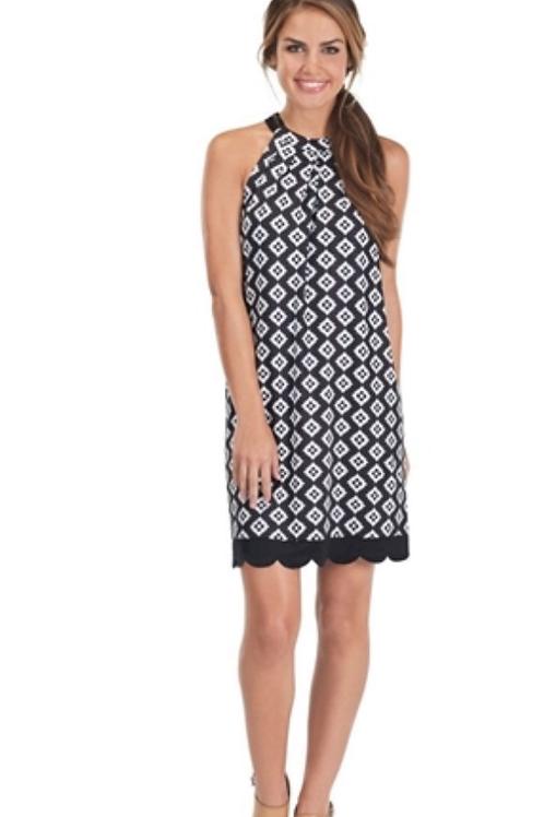 Natalie Bow Tie Dress- Black