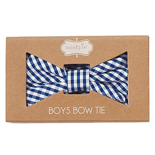 Boxed Gingham Bow Tie