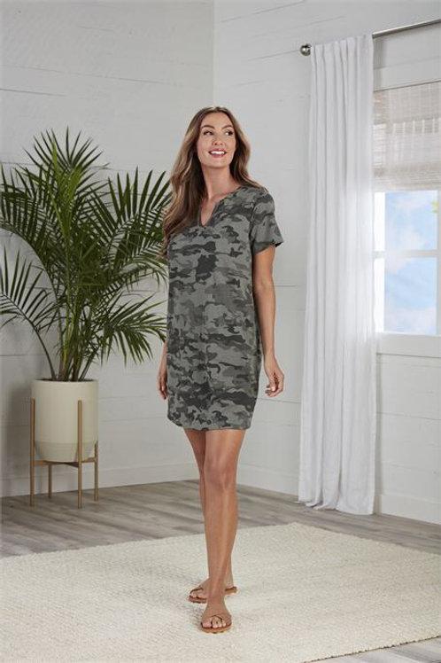 Cassidy V-Neck Dress- Green