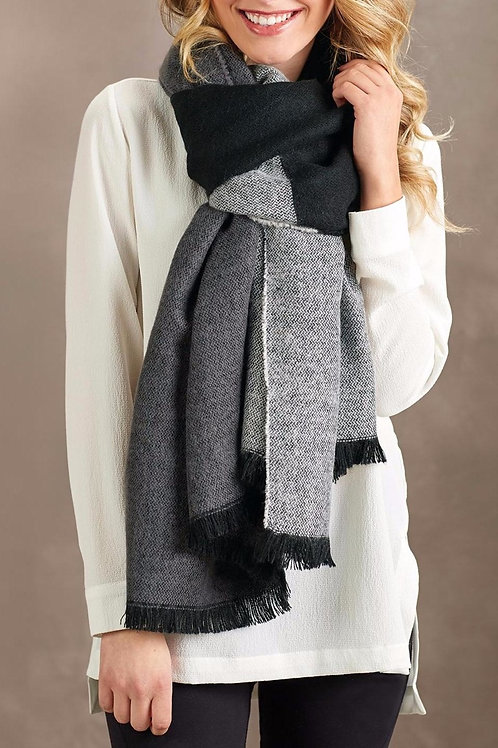 Carmen Blanket Scarf Gray