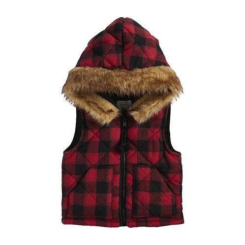Buffalo Check Hooded Vest