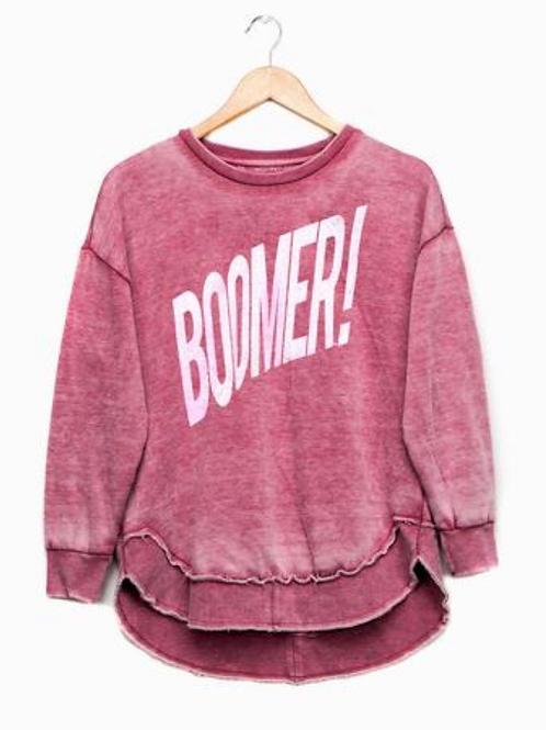Crimson Boomer Poncho