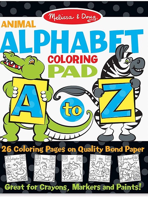 Animal Coloring Pad A-Z