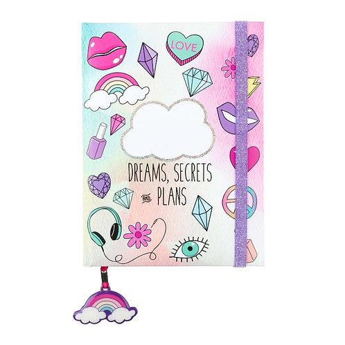 Dreams Secrets Elastic Glitter Journal