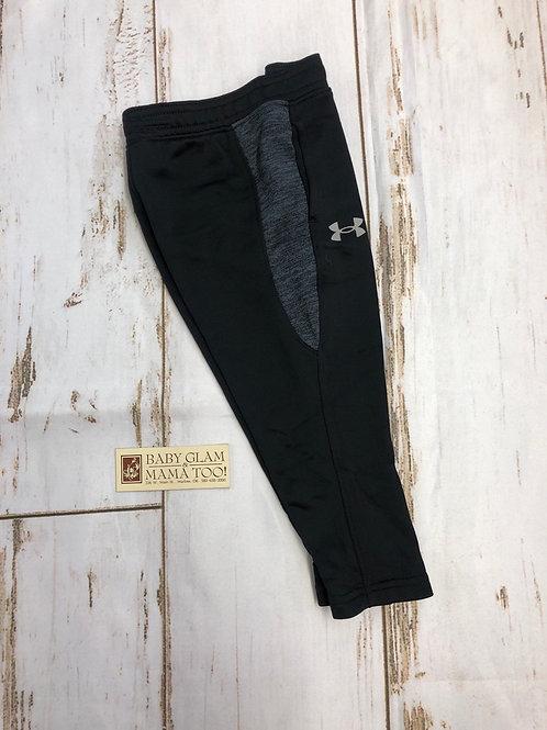 Black Twist Pieced Pant