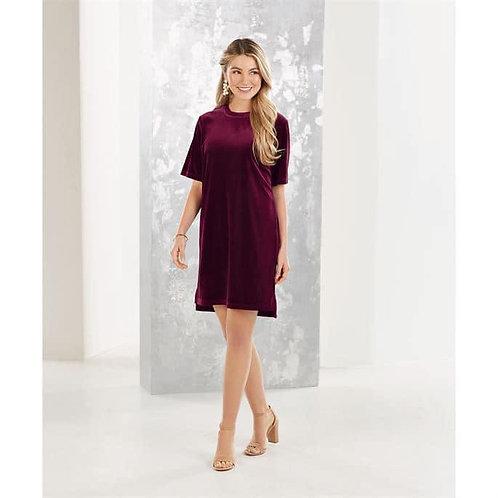 Bennett Velvet Dress- Burgundy