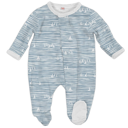 Blue Seeing Sailboats Modal Magnetic Footie