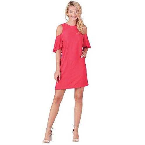 Cora Cold Shoulder Dress- Pink