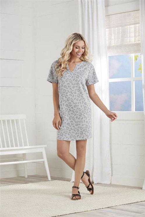 Cassidy V-Neck Dress- Gray