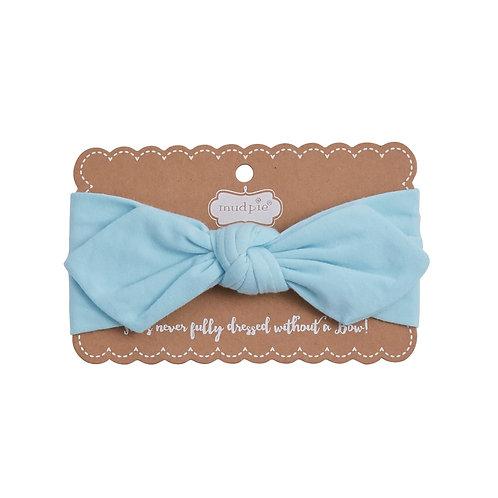 Blue Knotted Headband