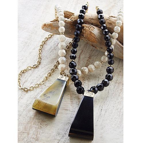Horn Pendant Necklace
