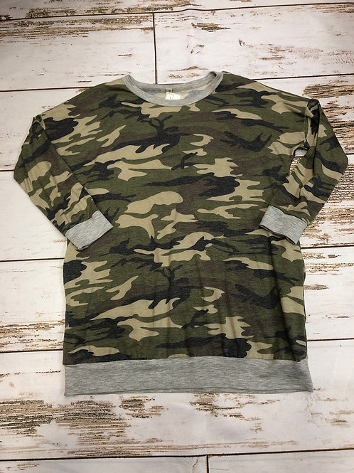 Camouflage French Terry Tunic