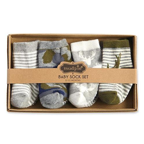 Camo Sock Set 0-12m