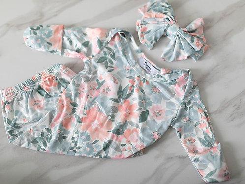 Addyson Gown/Headband Newborn Set