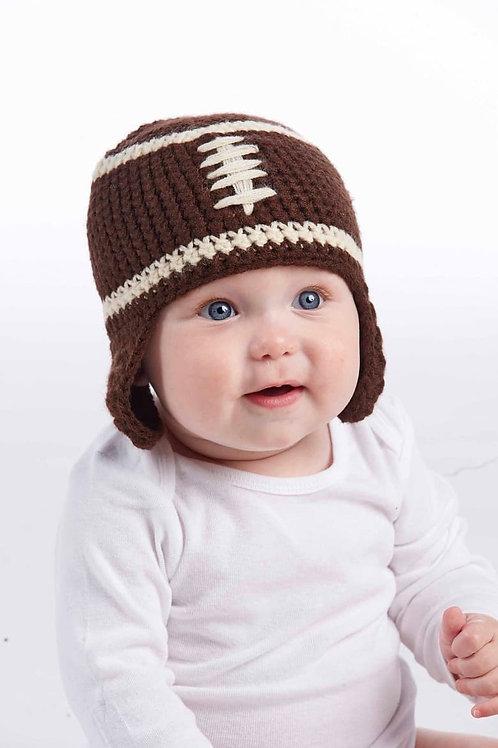 Chunky Knit Football Hat