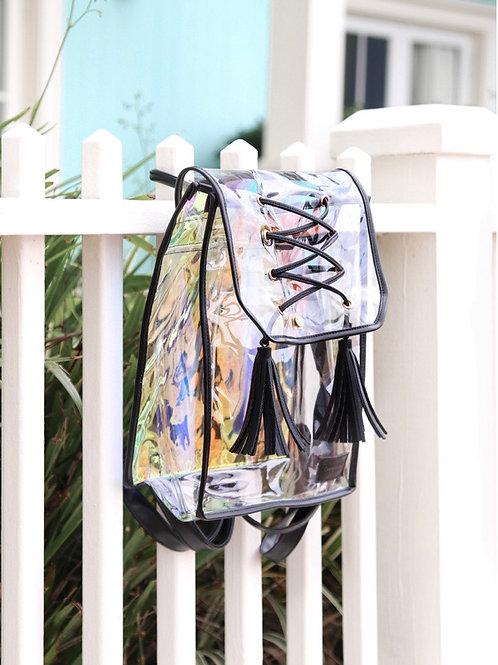 Black Iridescent Backpack