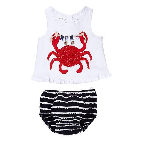Crab Pinafore Bloomer Set
