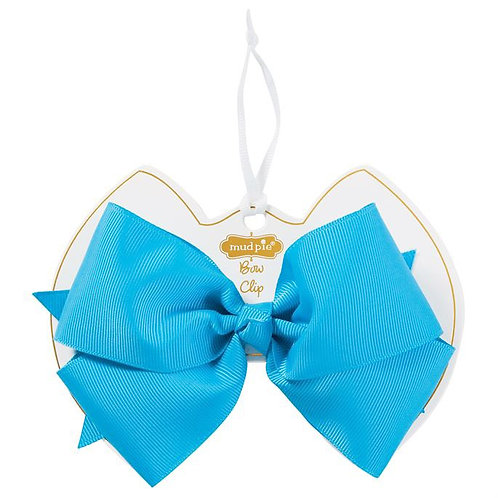 Turquoise Bow Clip