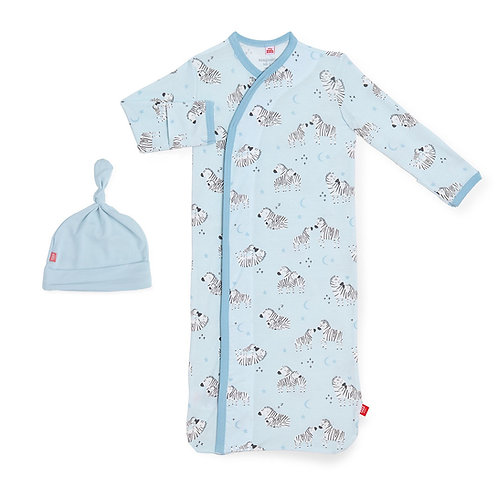 Blue Little One Modal Gown Set