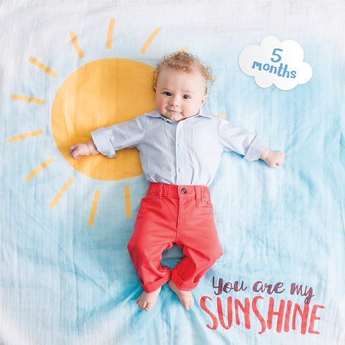 Baby's First Year Blanket- You Are My Sunshine
